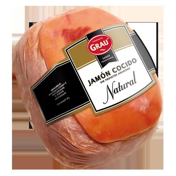 Jamón cocido natural sin fosfatos